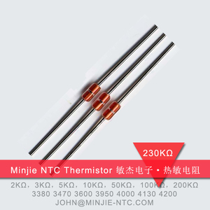 MJD-234玻封二极管式温度传感器使用NTC热敏电阻230K